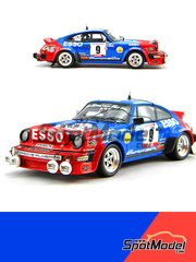 Arena: Model car kit 1/24 scale - Porsche 911SC Group 4 Almeras #9 - Jean-Luc Thérier (FR) + Michel Vial (FR) - Tour de Corse 1980 - resin multimaterial kit image