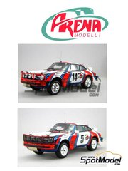 Arena: Model car kit 1/24 scale - Porsche 911SC Martini Racing #5, 14 - Björn Waldegård (SE) + Hans Thorszelius (SE) - Safari Rally 1978 - photo-etched parts, resin parts, rubber parts, vacuum formed parts, water slide decals, white metal parts, assembly instructions and painting instructions