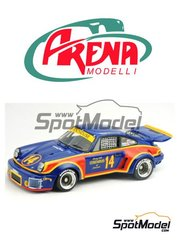 Arena: Model car kit 1/24 scale - Porsche Carrera RSR Penthouse #14 - Alvah Robert 'Al' Holbert (US) - 12 Hours Sebring, 24 Hours of Daytona, 5 Hours Mid Ohio 1974 and 1976 - photo-etched parts, resin parts, rubber parts, vacuum formed parts, water slide decals, white metal parts, assembly instructions and painting instructions image