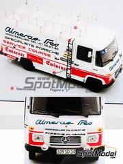 Arena: Model kit 1/25 scale - Mercedes L460 Van assistance of the Team Porsche