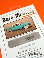 Bare Metal Foil Co: Material - Cromado ultra brillante - Ultra bright chrome - 16 x 30 cm - 1 unidades