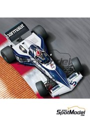 Beemax Model Kits: Model car kit 1/20 scale - Brabham BMW BT52 Parmalat #5 - Nelson Piquet (BR), Riccardo Patrese (IT) - World Championship 1983 - plastic parts, rubber parts, water slide decals and assembly instructions