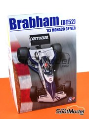 Beemax Model Kits: Model car kit 1/20 scale - Brabham BMW BT52 Parmalat #5, 6 - Nelson Piquet (BR), Riccardo Patrese (IT) - FIA Formula 1 World Championship 1983 - plastic parts, rubber parts, water slide decals and assembly instructions