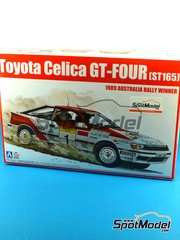 Beemax Model Kits: Model car kit 1/24 scale - Toyota Celica GT-Four ST165 Repsol #1 - Juha Kankkunen (FI) + Juha Piironen (FI) - Australian Rally 1989 - plastic parts, rubber parts, water slide decals and assembly instructions