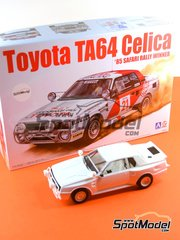 Beemax Model Kits: Model car kit 1/24 scale - Toyota TA64 Celica #21 - Juha Kankkunen (FI) + Fred Gallagher (IE) - Safari Rally 1985 - plastic parts, rubber parts, water slide decals and assembly instructions