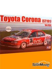 Beemax Model Kits: Model car kit 1/24 scale - Toyota Corona ST191 Zent #36, 37 - Masanori Sekiya (JP) - Japan Touring Car Championship (JTCC) 1994 - plastic parts, rubber parts, water slide decals, assembly instructions and painting instructions image