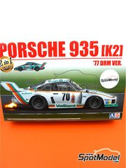 Beemax Model Kits: Model car kit 1/24 scale - Porsche 935 K2 Kremer Vaillant #51, 70 - Robert 'Bob' Wollek (FR), Peter Gregg (US) - Deutsche Rennsport Meisterschaft DRM 1977 - plastic parts, rubber parts, water slide decals, assembly instructions and painting instructions