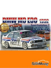 Beemax Model Kits: Model car kit 1/24 scale - BMW M3 E30 Rally Group A Fina Jagermeister #7, 19 - DTM - photo-etched parts, plastic parts, rubber parts, water slide decals, assembly instructions and painting instructions