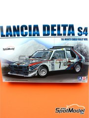 Beemax Model Kits: Model car kit 1/24 scale - Lancia Delta S4 Martini Racing Team - Montecarlo Rally 1986 - plastic parts, rubber parts, water slide decals, assembly instructions and painting instructions