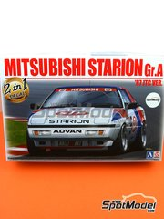 Beemax Model Kits: Model car kit 1/24 scale - Mitsubishi Starion Rally Grupo A - plastic parts, rubber parts, water slide decals, assembly instructions and painting instructions