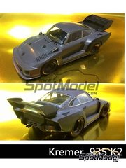 Beemax Model Kits: Model car kit 1/24 scale - Porsche 935 K2 Kremer - plastic parts, rubber parts, water slide decals, assembly instructions and painting instructions