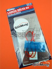 Beemax Model Kits: Detail up set 1/24 scale - Lancia Delta S4 - photo-etched parts, seatbelt fabric and turned metal parts - for Beemax Model Kits references B24020 and 09885