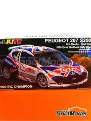 Belkits: Model car kit 1/24 scale - Peugeot 207 S2000 Total #6 - Kris Meeke (GB) + Paul Nagle (IE) - Ypres Rally 2009