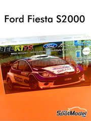 Belkits: Maqueta de coche escala 1/24 - Ford Fiesta S2000 Castrol Nº 2 - Mikko Hirvonen (FI) + Jarmo Lehtinen (FI) - Rally de Montecarlo 2010 - maqueta de plástico