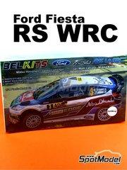 Belkits: Maqueta de coche escala 1/24 - Ford Fiesta RS WRC Castrol Nº 3, 4 - Mikko Hirvonen (FI) + Jarmo Lehtinen (FI), Jari-Matti Latvala (FI) + Miikka Anttila (FI) - Rally de Alemania ADAC 2011 - maqueta de plástico