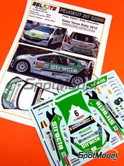 Belkits: Decals 1/24 scale - Peugeot 207 S2000 Structo #9 - Pieter Tsjoen (BE) + Eddy Chevaillier (BE) - Ypres Rally 2010 - for Belkits reference BEL-001