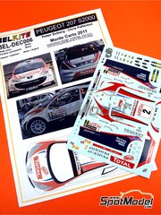 Belkits: Decals 1/24 scale - Peugeot 207 S2000 Total #2 - Petter Solberg (NO) + Chris Patterson (GB) - Montecarlo Rally 2011 - for Belkits kit BEL-001