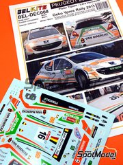 Belkits: Decals 1/24 scale - Peugeot 207 S2000 Structo #16 - Pieter Tsjoen (BE) + Lara Vanneste (BE) - Ypres Rally 2011 - for Belkits kit BEL-001 image