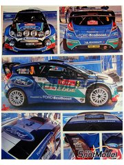 Belkits: Decals 1/24 scale - Ford Fiesta RS WRC Castrol #3, 4 - Petter Solberg (NO) + Chris Patterson (GB), Jari-Matti Latvala (FI) + Miikka Anttila (FI) - Montecarlo Rally 2012 - for Belkits reference BEL-003
