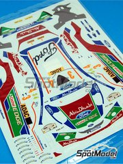 Belkits: Spare part 1/24 scale - Ford Fiesta RS WRC: Decals - water slide decals - for Belkits reference BEL-003