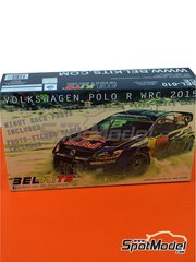 Belkits: Model car kit 1/24 scale - Volkswagen Polo R WRC #1, 2 - Sébastien Ogier (FR) + Julien Ingrassia (FR) - Montecarlo Rally - Rallye Automobile de Monte-Carlo 2015 - metal parts, photo-etched parts, plastic parts, rubber parts, seatbelt fabric, water slide decals and assembly instructions