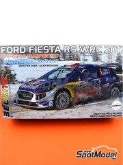 Belkits: Model car kit 1/24 scale - Ford Fiesta RS WRC Castrol #1 - Sébastien Ogier (FR) + Julien Ingrassia (FR) - Montecarlo Rally 2017 - photo-etched parts, plastic parts, rubber parts, seatbelt fabric, water slide decals, assembly instructions and painting instructions image