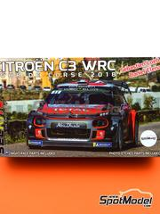Belkits: Model car kit 1/24 scale - Citroën C3 WRC 2018 - plastic parts, rubber parts, water slide decals, assembly instructions and painting instructions