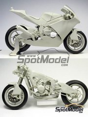 BolidItalia Bikes Models: Model bike kit 1/12 scale - Suter MMX 600cc Moto2 Suter Racing #48, 77 - Shoya Tomizawa (JP), Dominique Aegerter (CH) 2010 - photo-etched parts, resin parts, rubber parts, vacuum formed parts, water slide decals, white metal parts and assembly instructions image