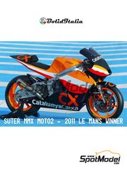 BolidItalia Bikes Models: Model bike kit 1/12 scale - Suter MMX 600cc Moto2 Repsol Caixa Catalunya #93 - Marc Márquez (ES) - Le Mans Grand Prix 2011 - photo-etched parts, resin parts, rubber parts, vacuum formed parts, water slide decals, white metal parts and assembly instructions