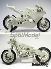 BolidItalia: Model bike kit 1/12 scale - Suter MMX 600cc Moto2 Suter Racing #48, 77 - Shoya Tomizawa (JP), Dominique Aegerter (CH) 2010 - photo-etched parts, resin parts, rubber parts, vacuum formed parts, water slide decals, white metal parts and assembly instructions image