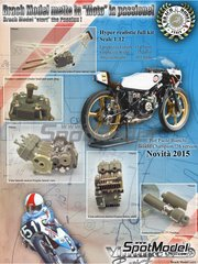 Brach Model: Model bike kit 1/12 scale - Morbidelli 125cc #51 - Pier Paolo Bianchi (IT) - Motorcycle World Championship 1976 - photo-etched parts, resin parts, rubber parts and assembly instructions