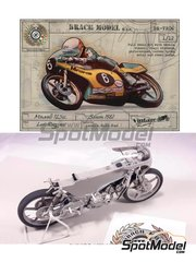 Brach Model: Model bike kit 1/12 scale - Minarelli 125cc #6 - Loris Reggiani (IT) - Motorcycle World Championship 1981 - metal parts, photo-etched parts, resin parts, rubber parts, water slide decals, other materials, assembly instructions and painting instructions