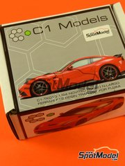 C1 Models: Transkit 1/24 scale - Ferrari F12 Novitec N-Largo - resins - for Fujimi kits FJ125626 and FJ125664