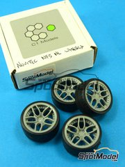 C1 Models: Upgrade 1/24 scale - 20 inches Novitec NF5 NL Set A - 2 x Standard tyres + 2x Wide tyres - resins