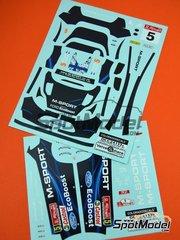 Colorado Decals: Decoración escala 1/24 - Ford Fiesta RS WRC M-Sport Nº 5 - Mikko Hirvonen (FI) + Jarmo Lehtinen (FI) - Rally de Portugal 2014 - calcas de agua - para la referencia de Belkits BEL-003