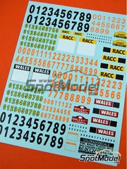 Colorado Decals: Logotypes 1/24 scale - WRC rally plates - Catalunya Costa Dorada RACC Rally, Wales Rally GB 2013 - water slide decals