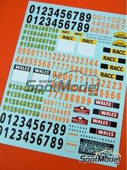 Colorado Decals: Logotipos escala 1/24 - Placas de rally - Rally de Cataluña Costa Dorada RACC, Rally de Gales 2013 - calcas de agua