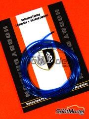 Crazy Modeler: Detail - Coloured blue tube 1mm diameter x 1 meter long