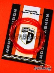 Crazy Modeler: Detail - Coloured orange tube 1mm diameter x 1 meter long