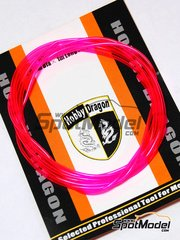 Crazy Modeler: Detail - Coloured fluorescent pink 1mm diameter x 1 meter long