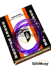 Crazy Modeler: Detail - Coloured purple tube 1mm diameter x 1 meter long