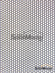 Crazy Modeler: Detail - Wide mesh hexagonal 8 x 13 cm - photo-etch