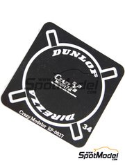 Crazy Modeler: Photo-etched parts 1/24 scale - Dunlop logo - photo-etch - 1 units