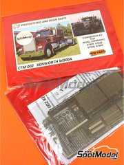 Czech Truck Model: Photo-etched parts 1/25 scale - Kenworth W900 - photo-etched parts and assembly instructions - for Revell kits REV07402, REV07406 and REV07497