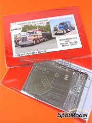 Czech Truck Model: Photo-etched parts 1/24 scale - Peterbilt 377 A/E - photo-etched parts - for Italeri kit 740, or Revell kit REV07527