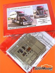 Czech Truck Model: Photo-etched parts 1/24 scale - International Lone Star - full colour photo-etched parts, assembly instructions and photo-etched parts - for Revell kit REV07408