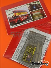 Czech Truck Model: Detail up set 1/24 scale - London Routermaster bus - full colour photo-etched parts, assembly instructions and photo-etched parts - for Revell kit REV07651