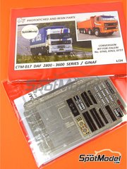 Czech Truck Model: Photo-etched parts 1/24 scale - DAF 2800-3300-3600 / GINAF - full colour photo-etched parts and photo-etched parts - for Italeri references 760, 763 and 777