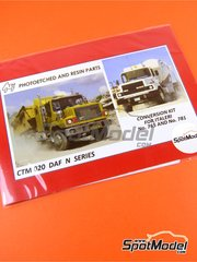Czech Truck Model: Detail up set 1/24 scale - DAF N - photo-etched parts, plasticard - for Italeri kits