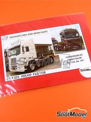 Czech Truck Model: Photo-etched parts 1/24 scale - Volvo F12 and Volvo F16 - full colour photo-etched parts, photo-etched parts and assembly instructions - for Italeri kits 3893, 751 and 752